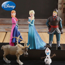 Disney 5pcs/Lot Frozen Princess 5-10cm Anna Elsa Action Figures Kristoff Sven Olaf Pvc Model Dolls Toys Collection Birthday Gift стоимость