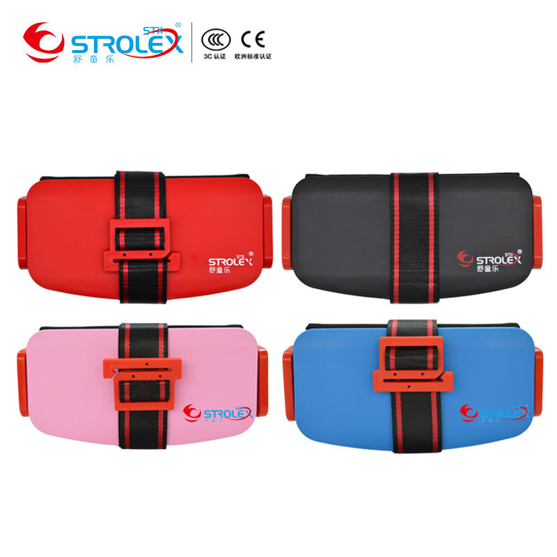 Foldable Child Safety Seat Baby Toddler Booster Seat Cushion Three-point Safety Harness Kids Travel Portable Car Safety Seats