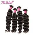 4 Bundles Indian Natural Wave Virgin Hair 7A Unprocessed Soft Human Hair Weaving Natural Curly Ali Julia Virgin Hair Company