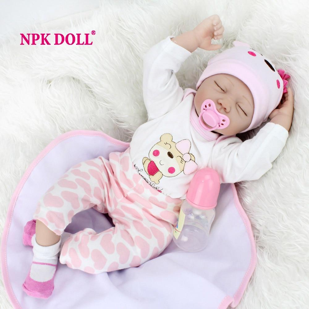 NPKDOLL 55 CM Dolls Reborn Silicone Baby Dolls For Sale Lifelike Dolls For Girls Handmade Doll Baby Real Kids Playmate Gifts