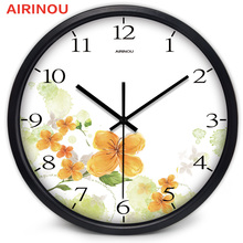Airinou Colorful Flower Wall Clock 3 Size And 3 Color Can Choose Make By Metal And Glass  Aestheticism