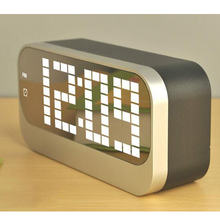 Magic Alarm Clock 4 Groups of  Table Clock Luminous Backlight  12/24 hours Timers Snooze Desktop with Large dispay Temperature