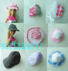 "5x Random Mix Style Hats Caps Accessories For Barbie Kurhn 11.5"" 12"" Doll Kid Toy Gift Play House"