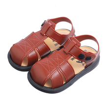 цена на 2019 Summer Kid Shoes Children Boys Sandals Fashion Toddler Beach Sandals Water Shoes Children Outdoor Little Boys Sandals Soft