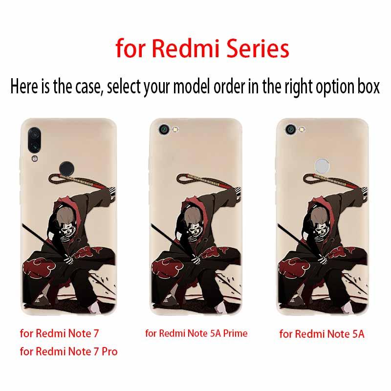 Naruto character anime Case For Xiaomi Redmi Redmi Note 9 8 7 6 5 pro Cover Redmi 9a 8a 7a 6a 5a 8t y3