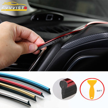 2019 VVVIST Car Styling 5M Interior Decoration Strips Mouldings Trim Decal Stickers For Auto Accessories