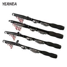 Yernea  Mini 1.0M – 2.3M Portable Telescopic Fishing Rod Spinning Carbon Fish Hand Fishing Tackle Sea Rod Ocean Rod Fishing Pole