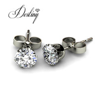 Destiny Jewellery Embellished with crystals from Swarovski earrings 925 sterling silver mans earrings DE0030