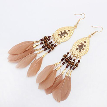 Long Feather Earrings