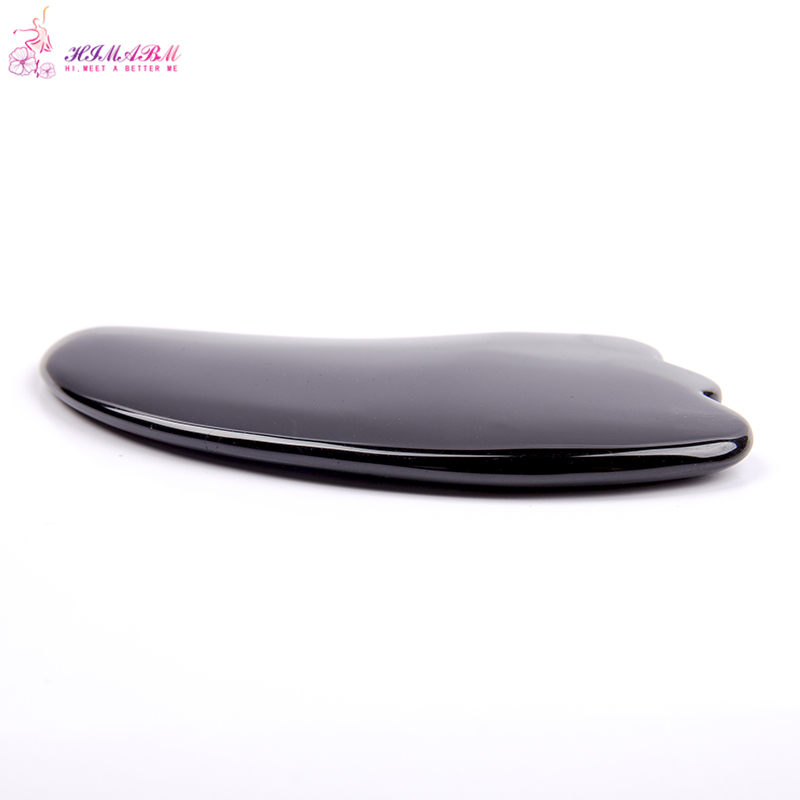 HIMABM Obsidian Gua Sha Guasha Board plates Face Massage Beauty Chinese Natural Jade Health Care Massage Scrape Tools in Massage Relaxation from Beauty Health