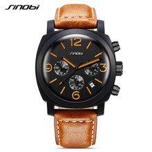 SINOBI Watch Men Sport Wristwatch Relogio Masculino Fashion Waterproof Watch Men Navy officials watches kol saati