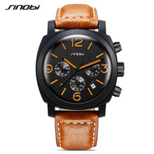 SINOBI Watch Men Sport Wristwatch Relogio Masculino Fashion Waterproof Watch Men Navy officials watches kol saati reloj G35