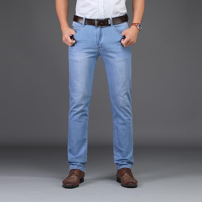 SULEE Brand Jeans2019 Summer Style Utr Thin Light  Men's Jeans Fashion Male Casual Denim Men's Jeans Slim Wholesale Jeans