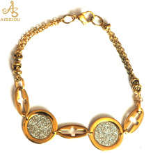 Aibeiou New Fashion Vintage Women's New Design Shining Imitation Diamonds  Styles Bracelet.