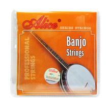 Alice Cordas Do Banjo AJ04 AJ05 para 4 Cordas ou 5 Cordas do Banjo Banhado A Aço Revestido Wound Liga de Cobre para Banjo peças Acessórios