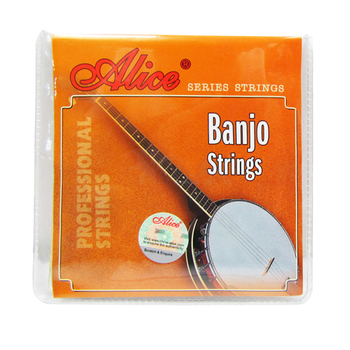 Alice Banjo Strings AJ04 AJ05 for 4 String or 5 String Banjo Plated Steel Coated Copper Alloy Wound for Banjo Parts Accessories electric guitar strings 008 to 038 inch plated steel coated nickel alloy wound alice a506