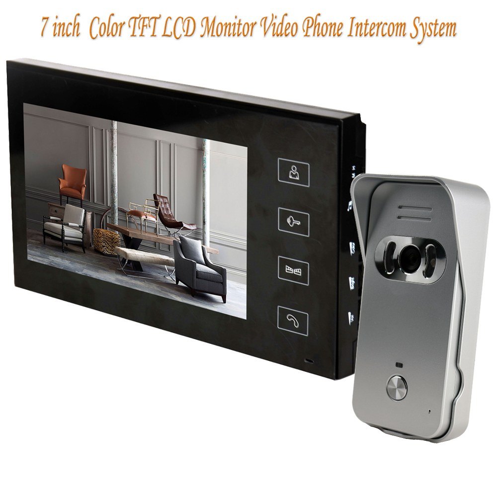 Home Security 7 inch TFT LCD Monitor Video Door phone Intercom System With Night Vision Outdoor Camera hot sale tft monitor lcd color 7 inch video door phone doorbell home security door intercom with night vision