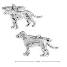 3d запонки для мужчин в виде собаки из качественной латуни милых