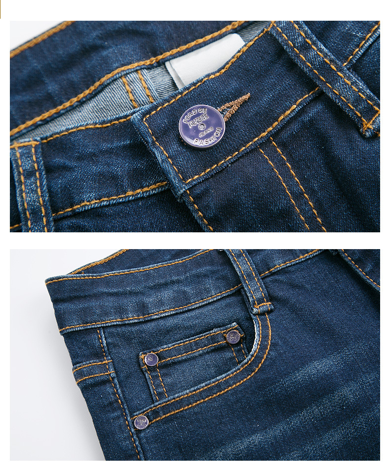 FERZIGE 2019 New Arrival Jeans Women High Waist Flared Elastic Casual Denim Pants Bell Bottom Girls