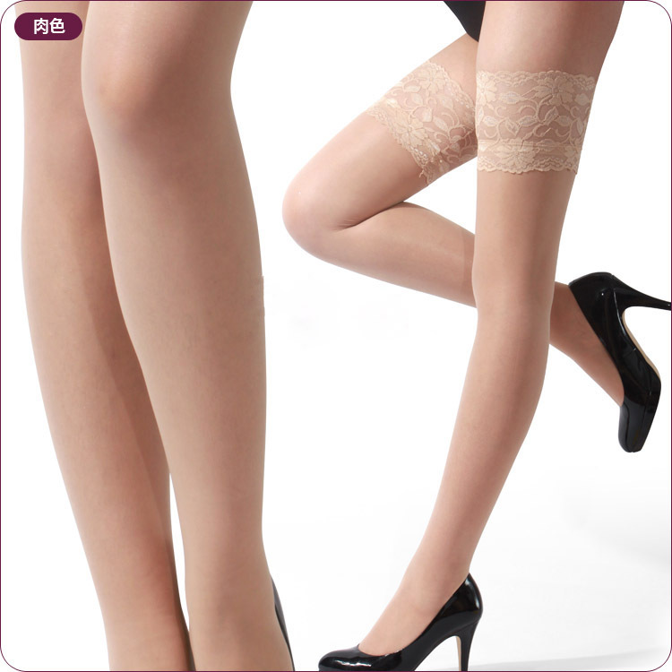 2019 Women's Stockings For Female Sexy Stocking Hose Appeal To Fix The Leg Thin Lace Silicone Prevents Slipping Stockings
