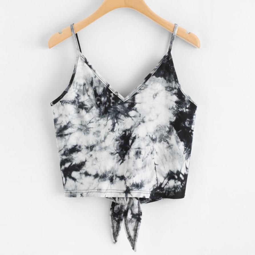 Tank     Top   Vest Fashion Leisure Short Sleeveless Crop   Top   2018 Summer Women Sexy Women's Clothing Camisole 18JUN13