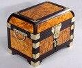 Free Shipping Burma's gold camphorwood Organizer cosmetics case jewelry storage box with ebony frame worthy collection gift