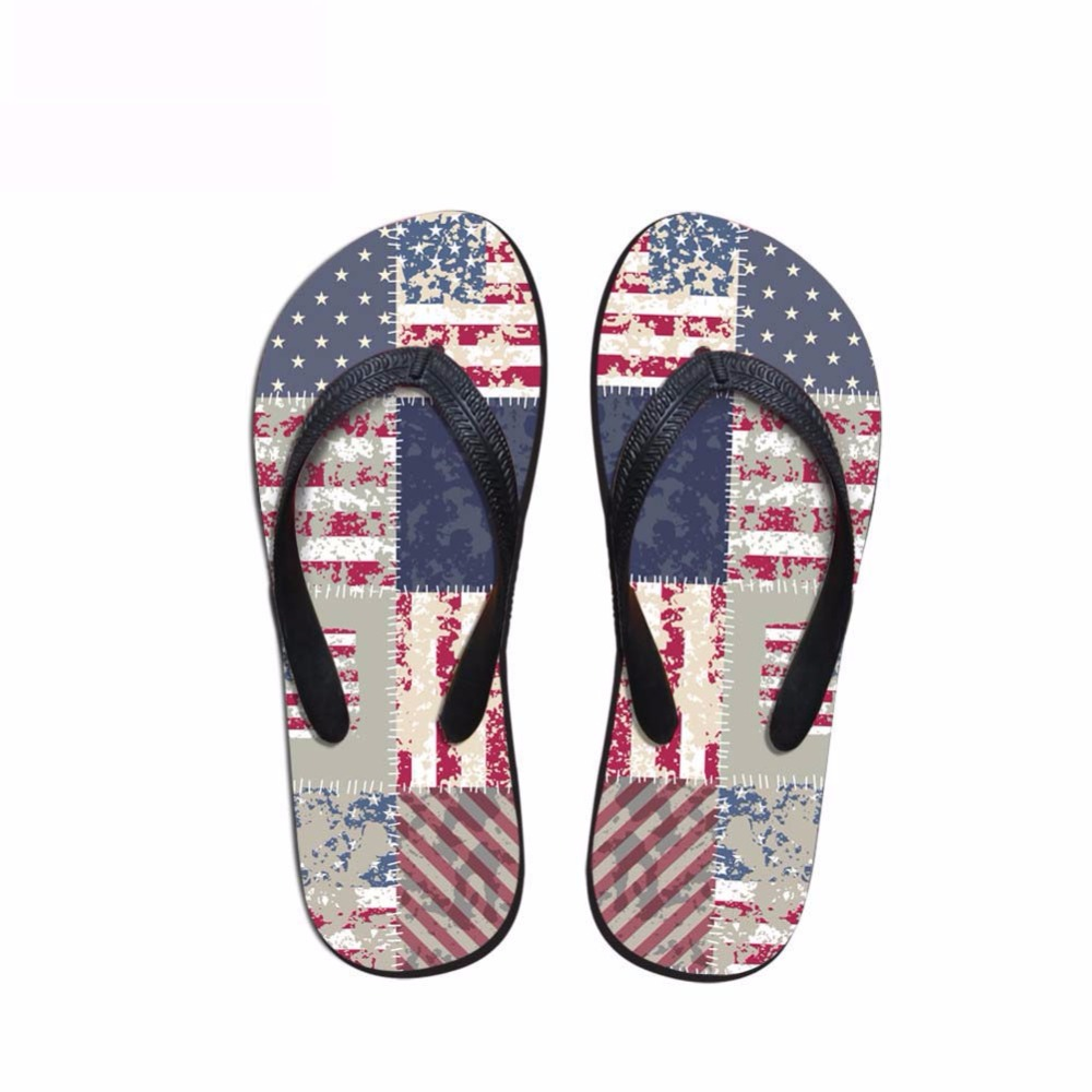 Noisydesigns Men's flip-flops boys sandals male star stripe national - Men's Shoes - Photo 5