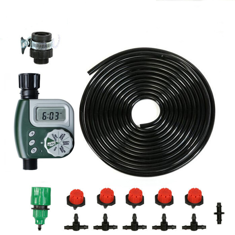 DIY Micro Irrigation Drip System, samočisticí samočinný zavlažovací časovač Zahradní hadicové soupravy s nastavitelným klepnutím