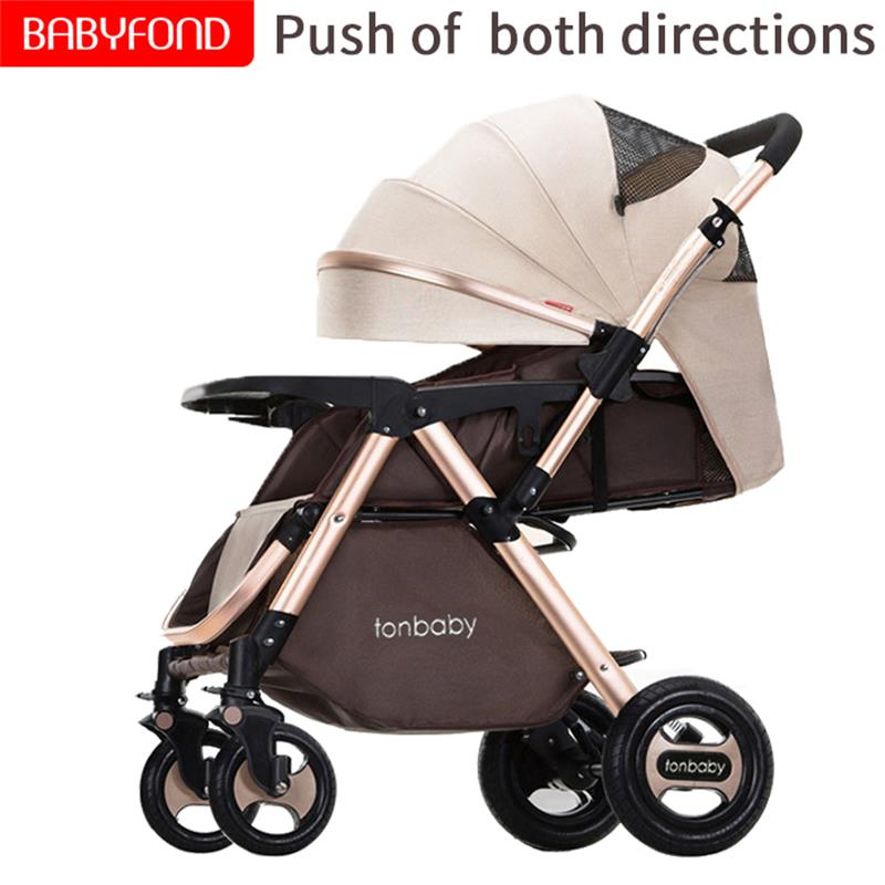 High Landscape Stroller Can Sit And Lie Portable And Easy To Fold Baby Two-way Baby Stroller Wheel Shock Absorber