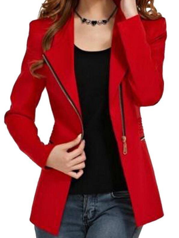 IMC font b women s b font long sleeve short winter jacket zipper jackets female coat