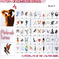 Animal series Temporary Airbrush Tattoo Stencil Template Book 100 Designs High Quality Template Book 9