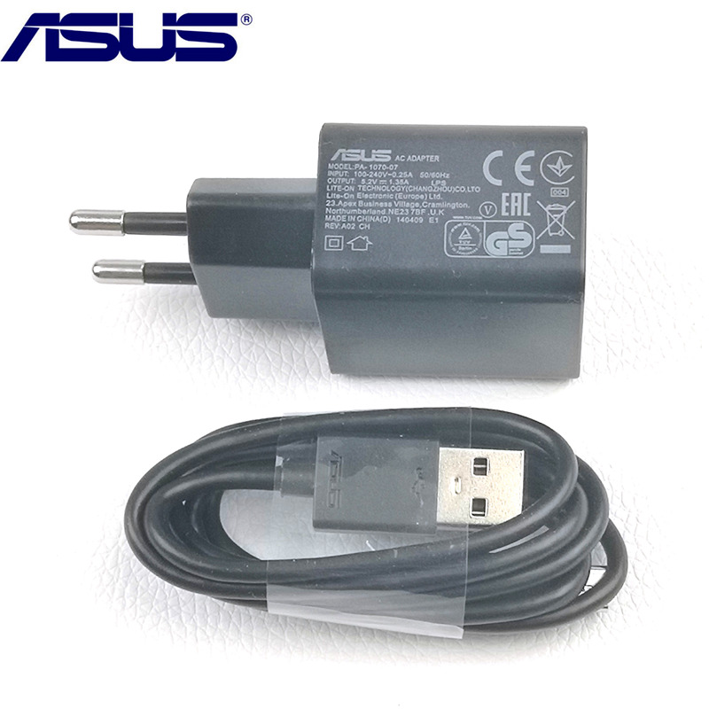 Original EU ASUS Zenfone 2 <font><b>charger</b></font> for 3 4 3s Max pro m1 selfie zd551kl Mobile Phones 5.2V 1.35A USB Wall Charge AC Adapter image