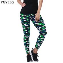 YGYEEG 2018 New Brands Women Leggings High Elastic Skinny Camouflage Legging Spring Autumn Leggins Slimming Women Leisure Pant(China)