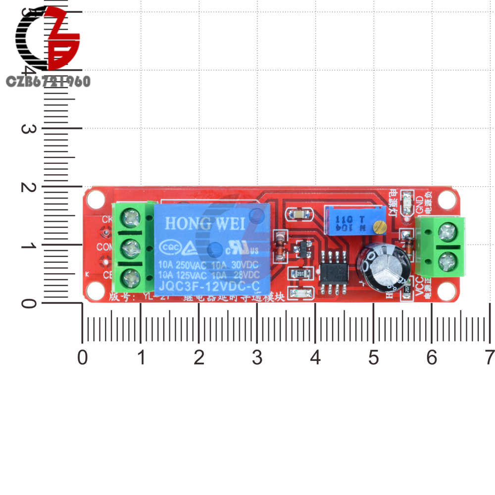 Dc 12v Ne555 Time Delay Relay Shield Timer Control Switch Timing Module 010s Adjustable Circuit 555