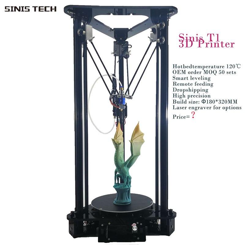3 D imprimante Sinis 3D Laser graveur pas cher 3d imprimante Machine intelligent nivellement autoalimentation Reprap Prusa i3 Delta 3d imprimante Kit bricolage