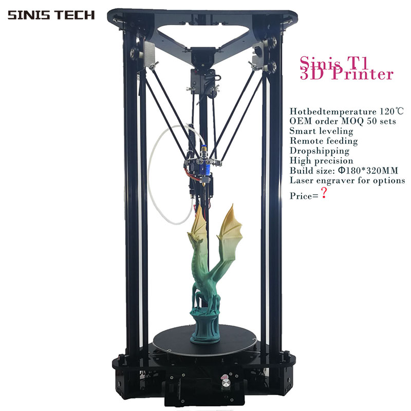 3 D Printer Sinis 3D Laser Engraver Cheap 3d Printer Machine Smart Leveling AutoFeeding Reprap Prusa i3 Delta 3d Printer Kit DIY