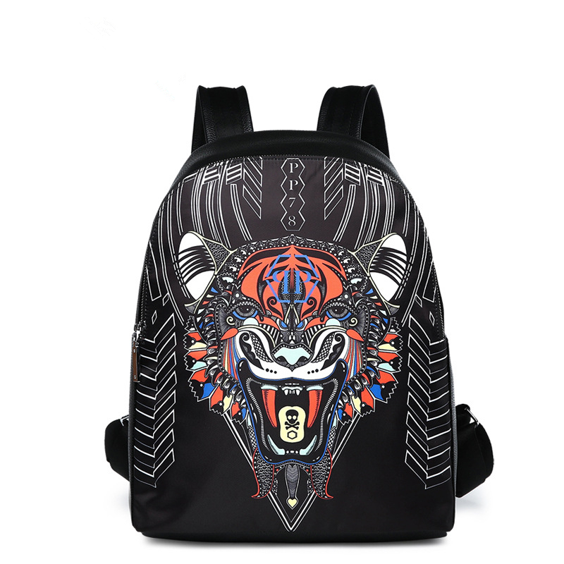 Vintage Tiger impression sacs à dos hommes épaule sac Femmes sac à dos sac d'école en cuir femelle filles Ordinateur Portable sac à dos voyage mochila