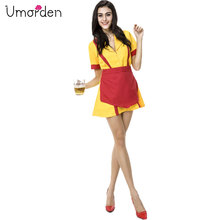 2 Broke Girls Costume Max Black Caroline Channing Beer Maid Waiter Costumes Fantasia Adulto Cosplay Sexy Short Dress for Women
