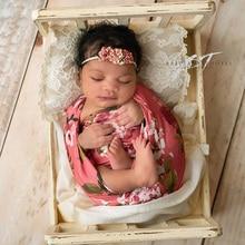 140x45cm Extra Soft Stretch Flower Newborn Photography Wrap for Photo Shooting Baby Photo Props Newborn Photography Accessories недорго, оригинальная цена