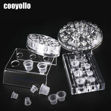 4 soorten Acryl Tattoo Inkt Cup Standhouder Permanente Make-Up Microblading Pigment Opslag Caps Tattoo Gun Rack Container Supply(China)