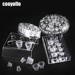 Image 1 - 4 Types Acrylic Tattoo Ink Cup Stand Holder Permanent Makeup  Microblading Pigment Storage Caps Tattoo Gun Rack Container Supply
