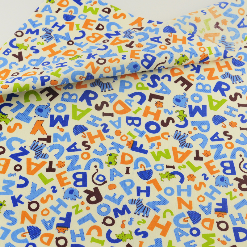 """49"""" Cotton Women Printed Fabric Blue Sewing Cotton Craft Material By The 1 Metre"""