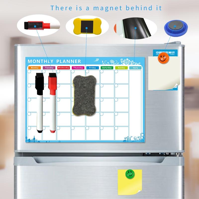 YIBAI A3 30*42 cm Piano di Magnete lavagna Flessibile Frigorifero Magnetico Frigorifero Impermeabile Disegno Tabellone messaggi Con Il Regalo Libero