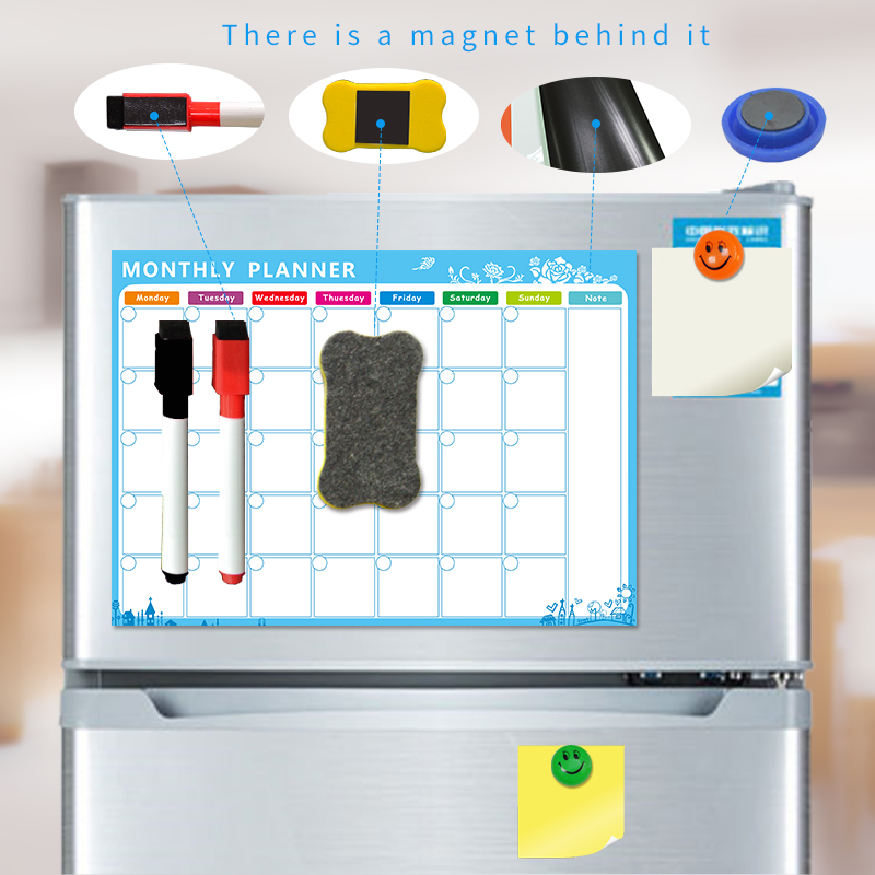 YIBAI A3 30*42cm Magnet Plan whiteboard Flexible Fridge Magnetic Refrigerator Waterproof Drawing Message Board With Free Gift mexi 10pcs bag round magnetic pin button memo message note whiteboard fridge home office refrigerator parts