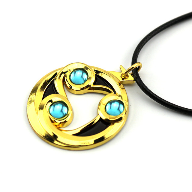 9pcs Anime Game Dota 2 Aghanim's Scepter God Rod Pendant Necklace Rings Keychain Cosplay Jewelry Accessories for Party Halloween 4