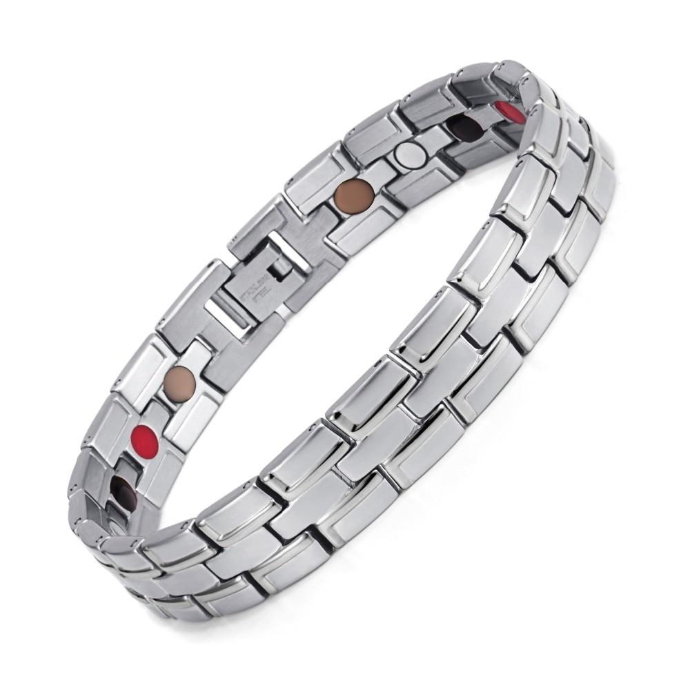 Healing magnetiske armbånd mænd / kvinde 316L rustfrit stål 3 - Mode smykker - Foto 4