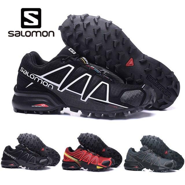 Salomon speed Cross 4 CS обувь мужские беговая Обувь Черный Белый Красный кроссовки женские брендовые кросовки мужские спортивные туфли