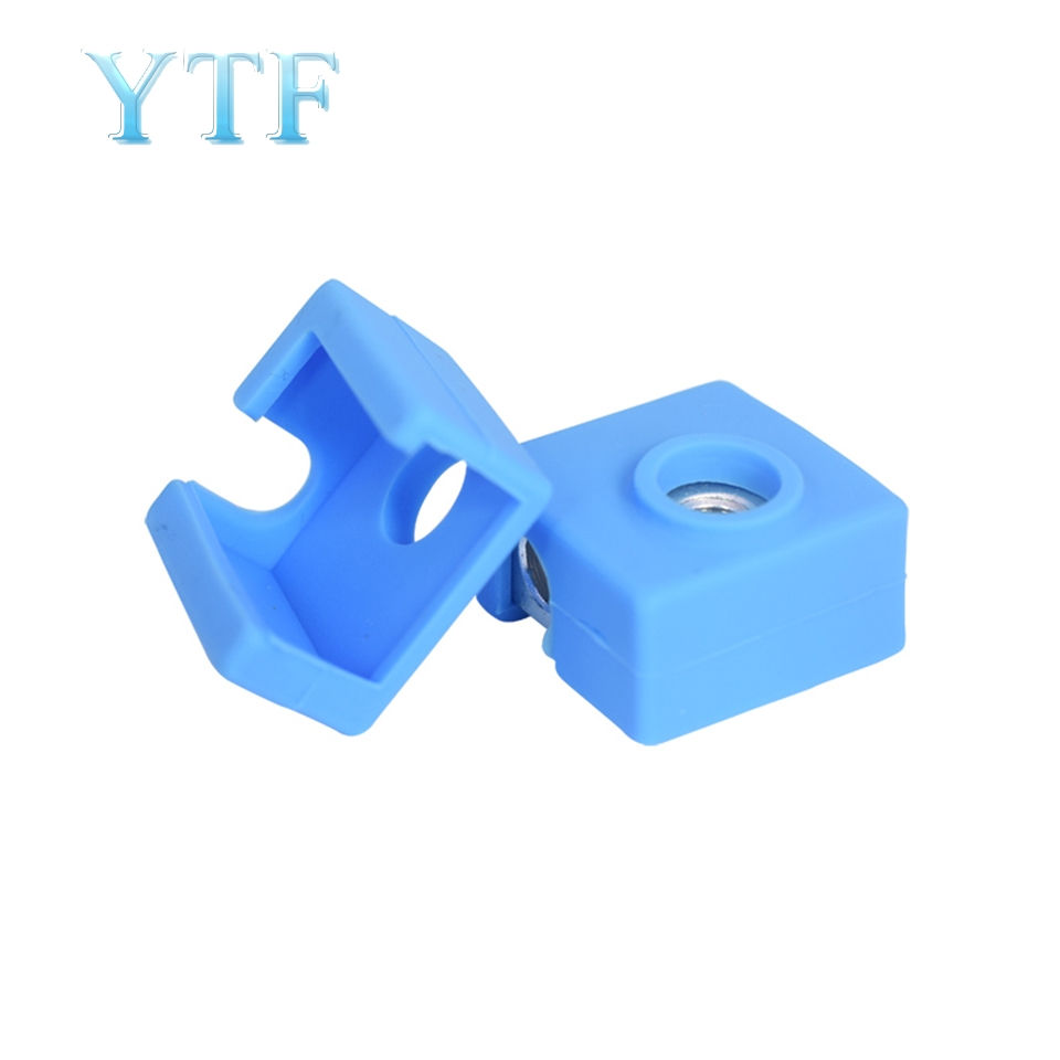 3D Printer Parts MK7 MK8 High Temperature Resistant   Heating Aluminum Block Silicone Sleeve With Lettering