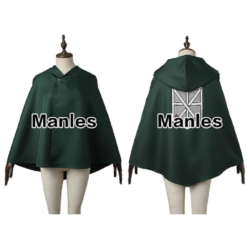 Attack on Titan Cosplay Cape Green Shingeki no Kyojin Costume Cape Cosplay Anime Trainee Squad Scout Legion Stationed Corps