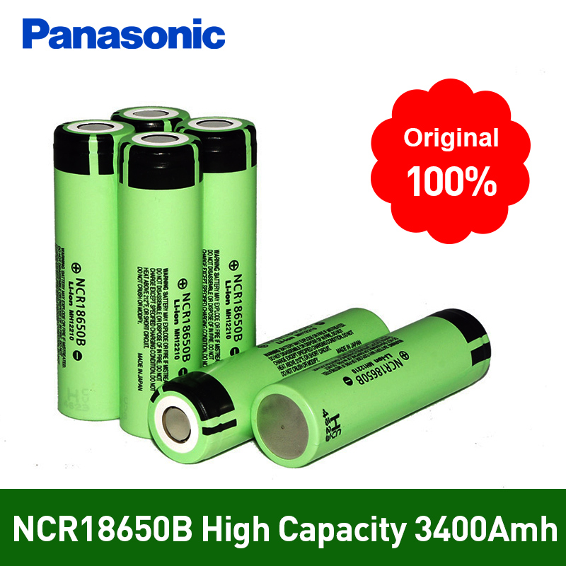100% New Original <font><b>NCR18650B</b></font> 3.7 v 3400 mah <font><b>18650</b></font> Lithium Li-ion Rechargeable Battery For <font><b>Panasonic</b></font> Flashlight Batteries image